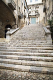 Stone step stairs Royalty Free Stock Photo