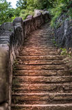 Stone step trail in the woods Royalty Free Stock Photos
