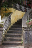 Stone steps. Ancient stone steps lead you upwards royalty free stock photos
