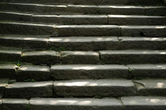 Stone steps. Old stone steps in countryside royalty free stock images