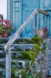 Stone steps. Antique Entry with dosh on the stone steps Stock Images