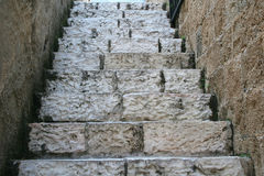 Stone Steps. Old stone steps in one of the many alleys in the old port city of Jaffa, Israel Royalty Free Stock Images