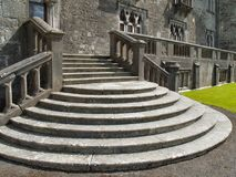 Stone Steps. Circular style steps at Kilkenny castle, Ireland Stock Image