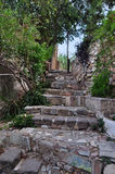 Stone steps with ancient symbols Royalty Free Stock Images