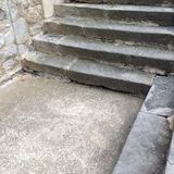 Stone steps. Ardeche low steps royalty free stock images