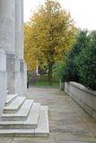 Stone Steps in the Autumn. Stone steps leading up to the Ashton Memorial in Lancaster Stock Photography