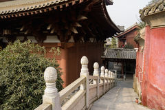 Stone steps with balustrade in Chinese traditional buildings Stock Photo