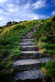 Stone Steps and Blue Sky Royalty Free Stock Images