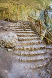 Stone steps in Devetakskaya cave, Bulgaria Royalty Free Stock Photography