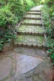 Stone steps in the garden Stock Photos