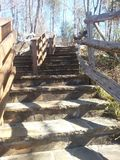 Stone steps going up Royalty Free Stock Photos