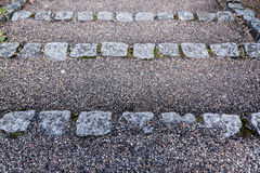 Stone steps with gravel texture - downwards. Abstract background Stock Images