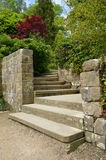 Stone steps in a landscaped garden. Stock Photography