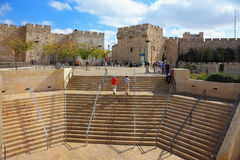 Stone steps leading to the Jaffa Gate Stock Image