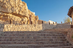 Stone steps leading up, coast of the Red Sea Stock Photography