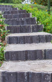 Stone steps leading up Stock Photo