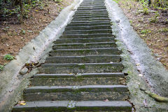 Stone steps leading up a hill Stock Images