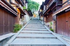 Stone Steps Leading Up Sannen-Zaka Street Shops Stock Photo