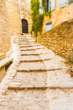 Stone Steps Masonry Village Gordes Royalty Free Stock Photography