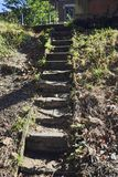Stone steps in the mountain royalty free stock photography