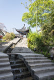 Stone steps and pavilion in Zhuxian Art blocks view royalty free stock photos