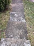 Stone steps. Photograph of stone steps going down outdoor Royalty Free Stock Images