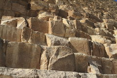 The stone steps of the pyramids Royalty Free Stock Photo