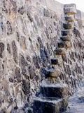 Stone steps. At the quayside - Lyme Regis, England Royalty Free Stock Photography