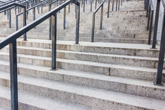 Stone steps with railing Stock Photography