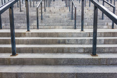 Stone steps with railing Royalty Free Stock Image