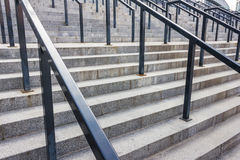 Stone steps with railing Stock Images