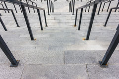 Stone steps with railing Royalty Free Stock Photos