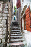 Stone Steps by Red Shutters Royalty Free Stock Image
