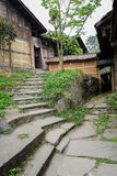 Stone steps before shabby buildings,China Royalty Free Stock Photo