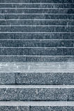Stone steps of staircase with raindrops splashes during heavy ra Stock Photography