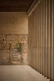 Stone steps beside Stoa of Attalos colonnade Stock Image