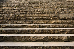 Stone steps at sunny noon Royalty Free Stock Images