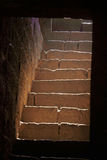 Stone steps, Teen darwaza panhala fort Royalty Free Stock Photos