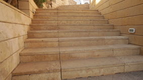 Stone steps on the territory of the Egyptian hotel stock video