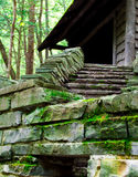 Stone steps to a cabin Royalty Free Stock Photos