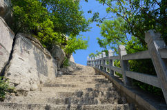 Stone steps to the hill top Royalty Free Stock Photo