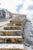 Stone Steps up Boulders in Aruba Royalty Free Stock Photo