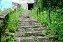Stone steps: uphill Stock Image
