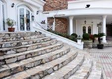 Stone steps Villa Royalty Free Stock Photo