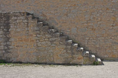 Stone steps and wall deatail Stock Image