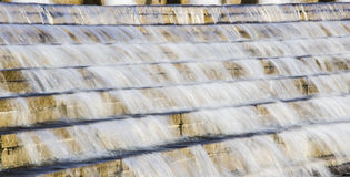 The Stone Steps with water. China idiom:Dripping water wears through a stone Royalty Free Stock Image