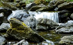 Stone and stream Stock Images