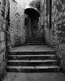 Stone street in Sibenik. Old stone stairs on the street in dalmatia, Šibenik Croatia royalty free stock images