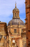Stone Street Dome New Salamanca Cathedral Spain Royalty Free Stock Photos
