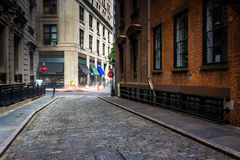 Stone Street, in the Financial District of Manhattan, New York. Stock Photos